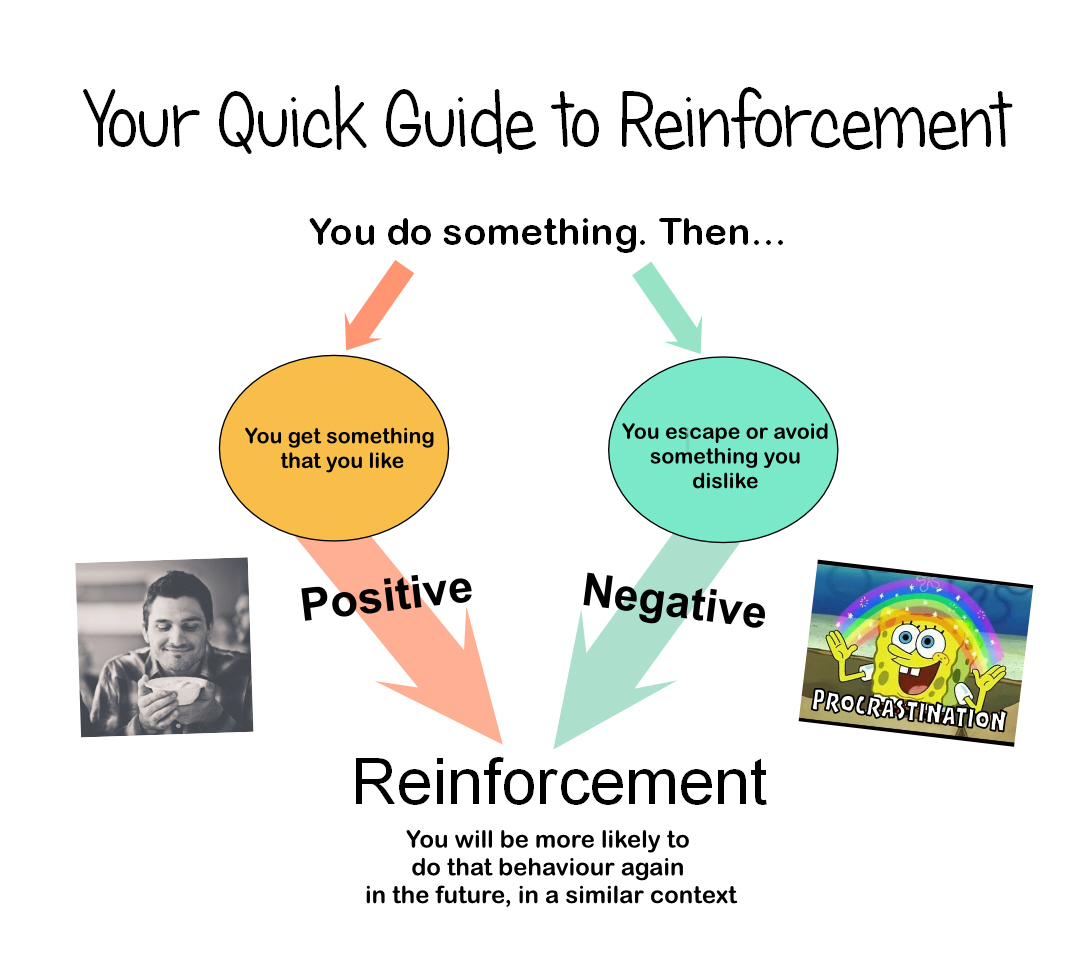 Reinforcement guide with guilt free spongebob